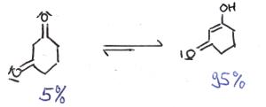 1,3-Cyclohexadion Keto-Enol-Tautomerie