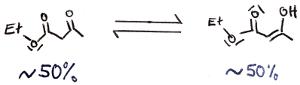 Acetessigsäureethylester Keto-Enol-Tautomerie