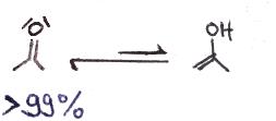 Aceton Keto-Enol-Tautomerie